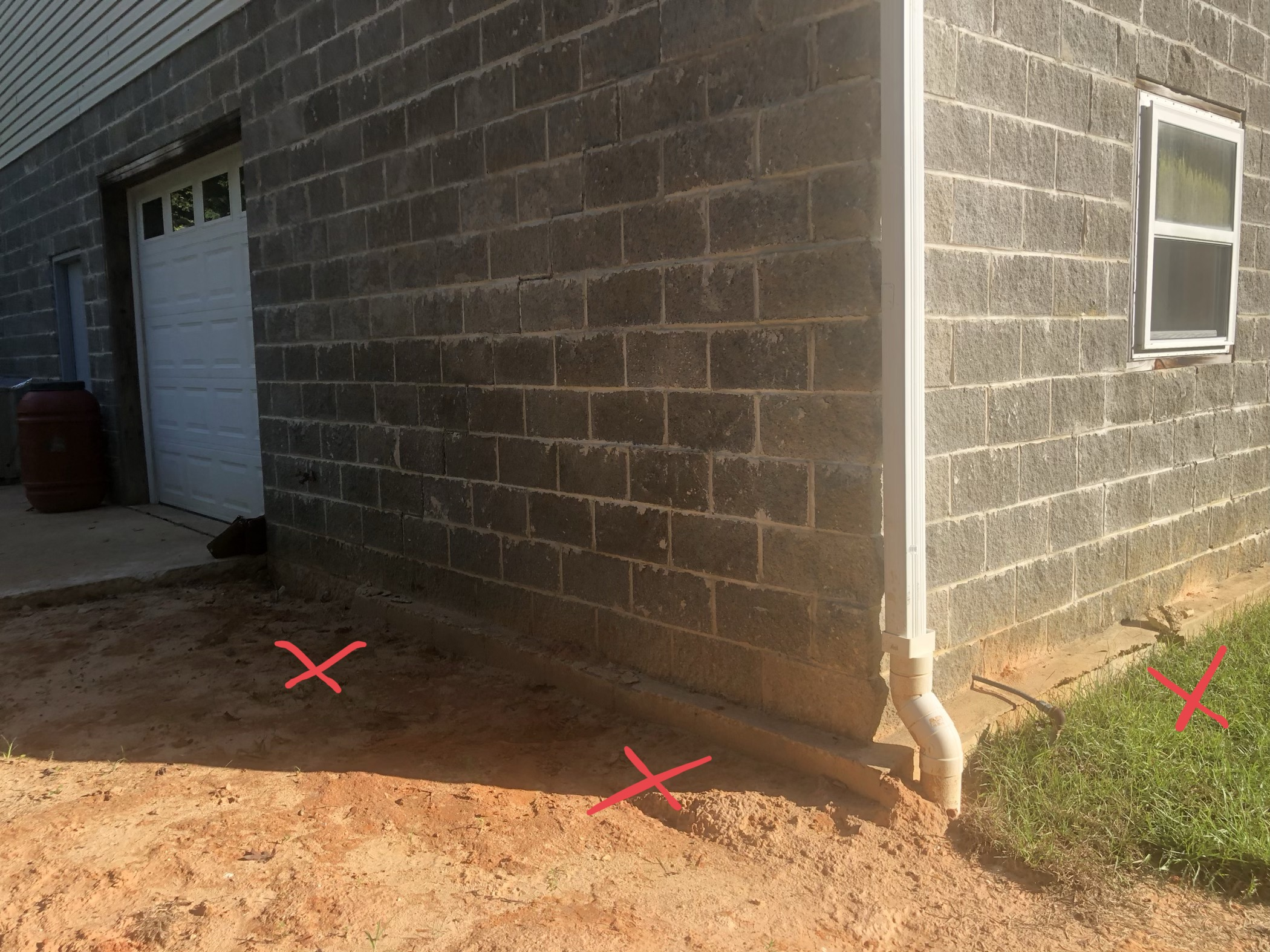 Stair stepping crack on exterior block wall