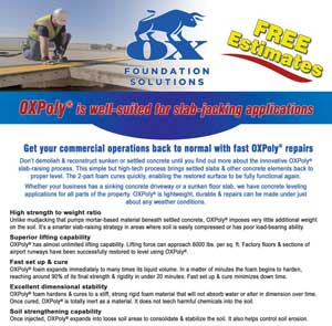 OX Foundations Residential Sunken Shifting Concrete flyer