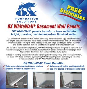Ox Basement System Basment Wall Panels